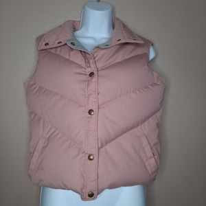 Woolrich Woman dusty rose down puffer vest